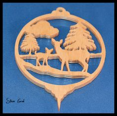 Deer Scene Ornament