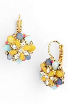 kate spade new york 'bungalow bouquet' drop earrings | Nordstrom // These earrings make me want to sing, beautiful!