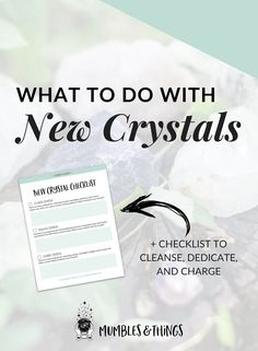 "Click through to read the whole post and download your checklist. Woohoo! Congratulations! You just found a beautiful, new crystals and you love it! Now you're wondering, ""What next?"" Clear. Dedicate and/or Program. Charge. Then, enjoy! This post will help you get the most from working with crystals. #ontheblognow #crystallovers #crystalhead #crystallover #crystalpower #crystalstones #crystalmeanings"
