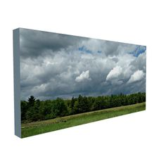Black Friday SALE, Panoramic Photo, Panorama Print, Large Wall Art, Large Photo, Cloudy Sky, Open Sky, Stormy Sky, Landscape, Canvas Wrap by LizSnavely on Etsy