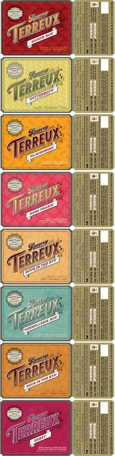 Introducing our first beer labels for Bruery Terreux. #brueryterreux #craftbeer #design