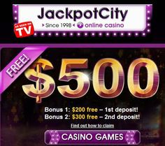 JackpotCity offers you the highest quality casino games to play on your computer, tablet or mobile phone. Slots, Blackjack, Video Poker, Roulette and much more!