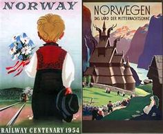 Vintage travel posters!  (I used to collect travel posters, so this takes me back!)