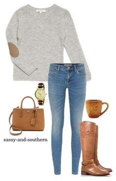 """"" by sassy-and-southern ❤ liked on Polyvore featuring moda, Burberry, Tory Burch, Sur La Table, Kate Spade e sassysouthernfall"