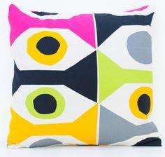 20x 20 Marimekko Pillow Cover. Handmade. Pattern: