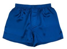 From 16.90 Sexy 100% Charmeuse Silk Mens Boxer Shorts Underwear New Blue (x-large)