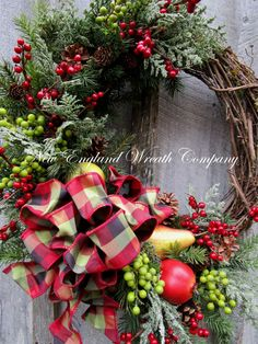 ON SALE Christmas Wreath Holiday Wreath New by NewEnglandWreath