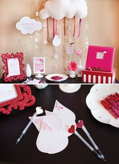 This is a sweet keepsake. might have to do this for my cousin's baby shower. wishing-cloud-baby-shower-activity