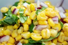 Ina Garten's Fresh Corn Salad... I grilled the corn and I used chive instead of onion... SO good