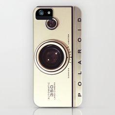 iPhone 5 Case, iPhone 5, vintage Polaroid camera, case for iPhone 5, Polaroid, bomobob, gold, iPhone accessory. $42.00, via Etsy.