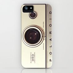 iPhone 5 Case, iPhone 5, vintage Polaroid camera, case for iPhone 5, Polaroid, bomobob, gold, iPhone accessory