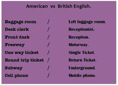 🇺🇸vs🇬🇧 British And American English, Irish English, Learn English, English Grammar, Teaching English, Vocabulary, Homeschool, Language, Education