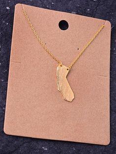 State Necklace - California