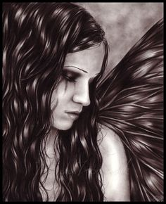 Beautiful Goth Angel <3