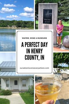 Do you love museums, history, hiking and wine? Water too? Then you'll enjoy the perfect day in Henry County, IN. Just a short day trip from Indianapolis, there are plenty of fun things to do for the whole family! #daytrips #ouradventureiseverywhere #familyfun Beautiful Places To Visit, Cool Places To Visit, Places To Go, Travel Inspiration, Travel Ideas, Travel Guide, Midwest Vacations, Michigan Travel, United States Travel