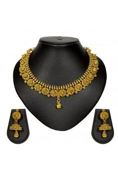 Traditional Golden Finish With Stunning Earring For Bridal #karvachauthoffers #designerjewellery #necklace