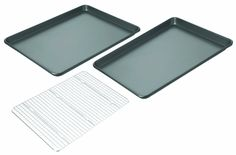 Chicago Metallic Non-Stick 3-Piece Value Pack with 2 Cookie/Jelly Roll Pans and Cooling Grid * Click image to review more details.