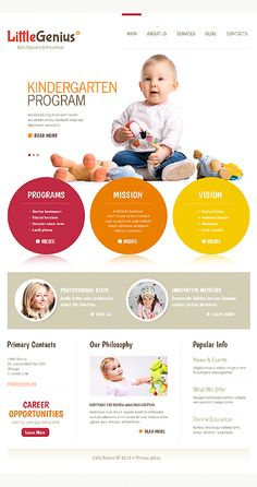 Template 40540 - Colorful Joomla Website Template For Kids with Image Slider, Drop-down Menu Gallery and Blog