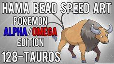 Hama Bead Speed Art   Pokemon   Alpha/Omega   Timelapse   128 - Tauros
