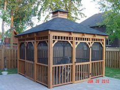 Cedar Gazebo   12'x12' Cedar Square Standard Gazebo