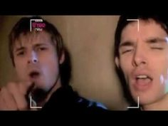 """Bradley James & Colin Morgan performing 'You're the Voice' hahahahahahahaha I can't get over this...especially when """"they're not going to live by fear"""" hahaha"""
