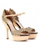 Nina Ricci laser-cut platform sandals