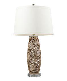 Golden Pearl Ceramic Table Lamp