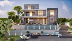 Urla Kekliktepe Villa – İzmir – Vero Concept Mimarlık Modern Villa Design, Small House Interior Design, House Design, Round House Plans, Apartment Floor Plans, Modern Architecture House, Modern Houses, House Elevation, Verona