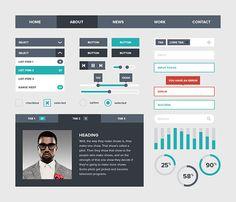 Flat UI Kit in 30 Flat UI Kits for Web Designers