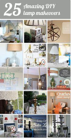 25 amazing DIY lamp makeovers http://www.hometalk.com/b/7030215/lamp-upcycle?se=fol_new-20150303&utm_medium=email&utm_source=fol_new&date=20150303