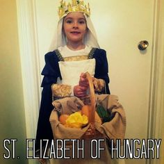 St. Elizabeth of Hungary costume for All Saints' Day