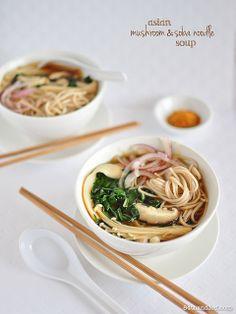 Asian Mushroom & Soba Noodle Soup