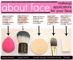Learn which makeup applicators are best for your routine. #MakeupTip #PrettyDollfacedAZ