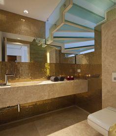 Afbeeldingsresultaat voor metallic bathrooms designs