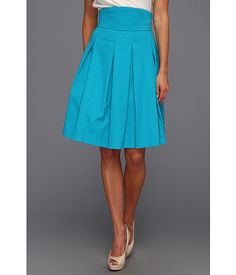 Love this skirt! Great waistband -- Bri Seeley:Jaclyn Cotton Pleated Skirt