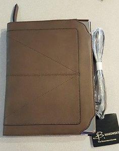 B. Makowsky Leather Zip Around iPad Case shoulder bag (Truffle) **NEW** reg $250