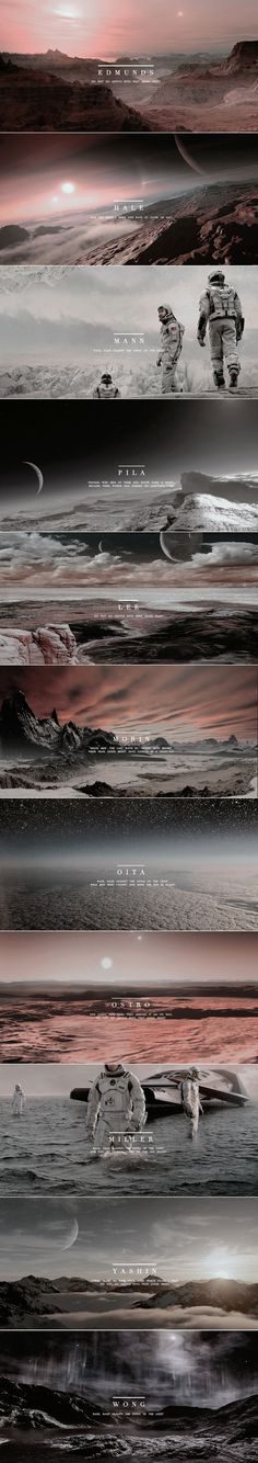 The Twelve Planets of Interstellar: Do not go gentle into that good night