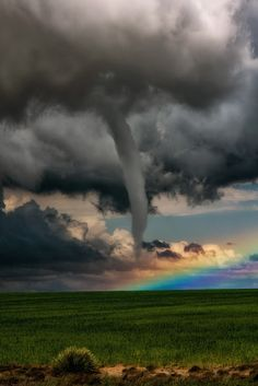 A Tornado in Front of a Rainbow Lamar ~ Colorado©