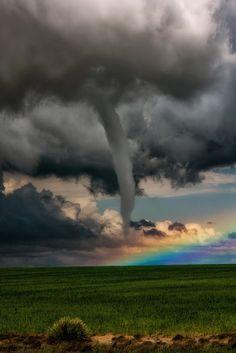 A Tornado in Front of a RainbowLamar ~ Colorado©