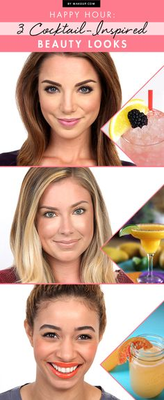 Happy Hour: 3 Cocktail-Inspired Beauty Looks