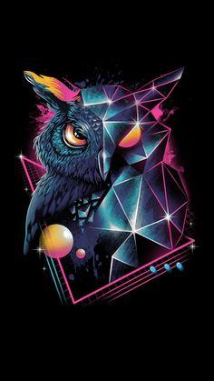 owl art \ owl art ` owl artwork ` owl art projects for kids ` owl art drawing ` owl art painting ` owl art for kids ` owl art dark ` owl art whimsical Owl Wallpaper Iphone, Animal Wallpaper, Dark Wallpaper, Wallpaper Keren, Iphone Wallpapers, Trendy Wallpaper, Owl Artwork, New Retro Wave, Owl Tattoo Design