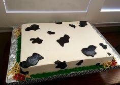 Cow themed Happy Birthday Cake
