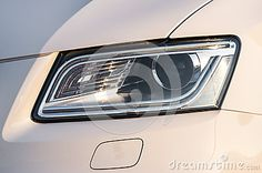 Photo about Closeup of a new car headlight. Image of automotive, detail, shiny - 32590514 Car Headlights, Stock Photos, Cars, Image, Auto Headlights, Autos, Car, Automobile, Trucks