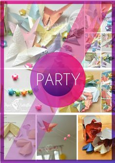 A beautiful range of party decorations and favours, available through my Etsy shop