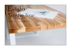Stolik kawowy - Estilo Nordic Line Rozmiar: 80cm długość x 45 szerokość x 50cm wysokość. Grubość blatu stołu: 2,7cm Wykończenie: jesion lakierowany, stal lakierowana proszkowo. Wykończenie: jesion lakierowany, stal lakierowana proszkowo, kolor biały. Chętnych do zakupu zapraszamy na naszą stronę internetową. Dostępne warianty wykończeń są związane z wyceną indywidualną. Drewno: dąb, jesion, buk oraz akacja. Rozmiar: możemy wykonać według zamówienia. Tel.+48 693108596