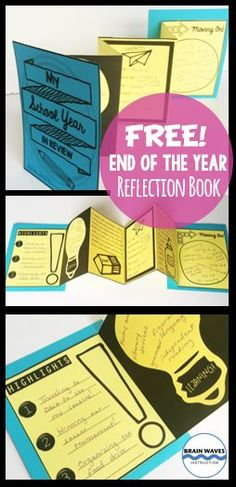 Looking for a hands-on and fun end-of-the-year activity? This end of the year lesson will not only help students practice the critical skill of reflecting, they'll also create an interactive accordion book to showcase their t End Of School Year, School Days, Middle School, School Stuff, End Of Year Activities, Classroom Activities, Classroom Ideas, 4th Grade Classroom, Accordion Book