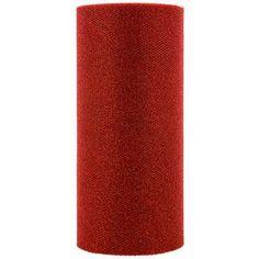 "6"" Red Glitter Tulle, 25 yds ($5)"