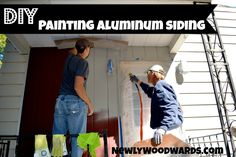 DIY: How to paint aluminum siding {We renovate homes, and have painted siding many times, always with great results.}