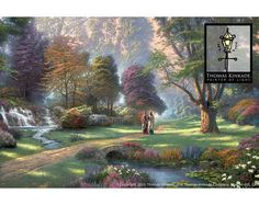 This is my #1 favorite painting Walk of Faith by Thomas Kinkade