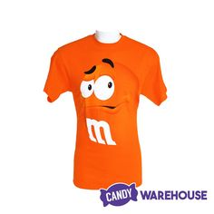 Wear your candy on your shirt—M&M's Candy Character Face Adult T-Shirt M M Candy, Bulk Candy, Candy Store, Peanut M&ms, Wholesale Candy, Types Of Candy, Yellow Candy, New Inventions, Youth